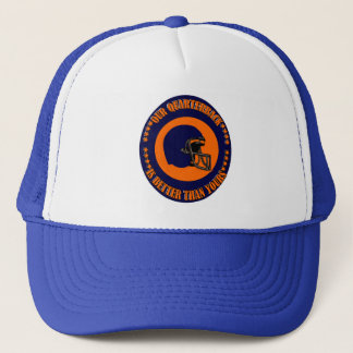 OUR QUARTERBACK IS BETTER THAN YOURS TRUCKER HAT