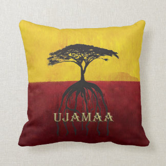 Our Roots Run Deep Kwanzaa Throw Pillow