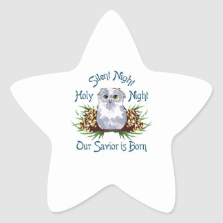 OUR SAVIOR IS BORN STAR STICKERS