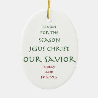Our Savior Tree Ceramic Ornament