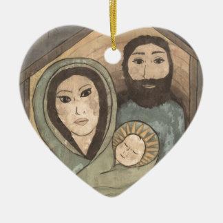 Our Savior's Birth Ceramic Ornament