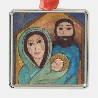 Our Savior's Birth Metal Ornament