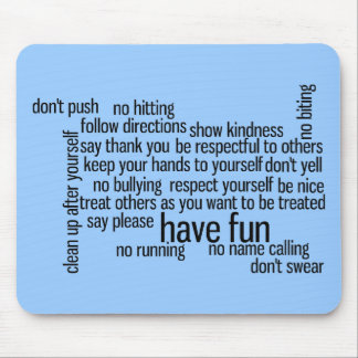 Our School Classroom Rules Mouse Pad