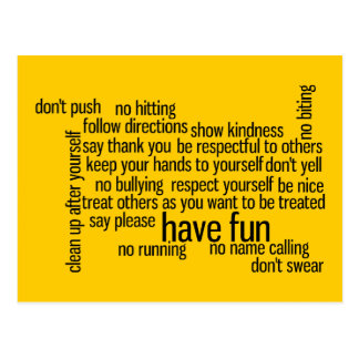 Our School Classroom Rules Postcard