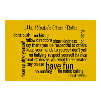Our School Classroom Rules Poster