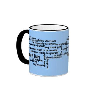 Our School Classroom Rules Ringer Mug