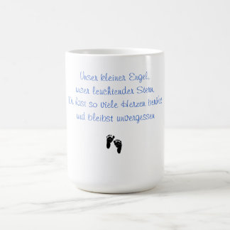 Our small angel memory cup classic white coffee mug