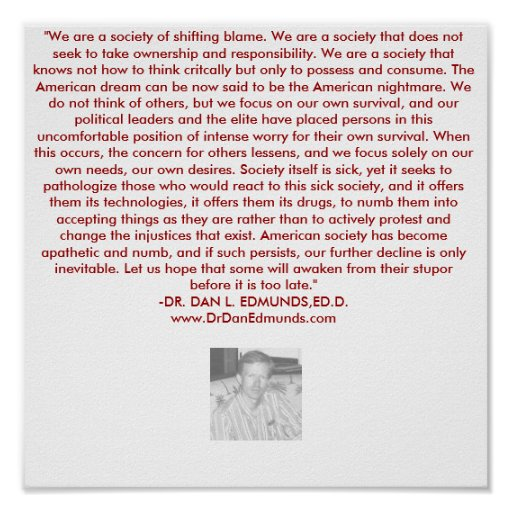 OUR SOCIETY IN DISTRESS POSTER