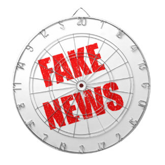 Our society is dominated by fake news dartboard