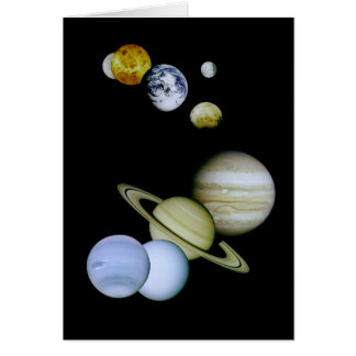 Our Solar System Astronomy Greeting Card