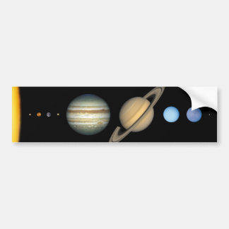 Our solar system bumper sticker