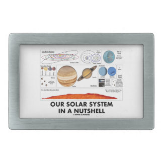Our Solar System In A Nutshell Rectangular Belt Buckle