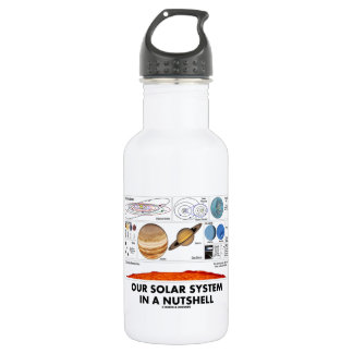 Our Solar System In A Nutshell Water Bottle