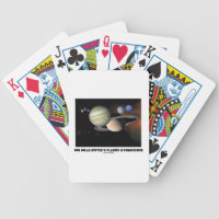 Our Solar System's Planets In Perspective Bicycle Playing Cards