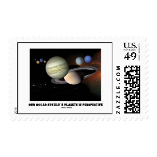 Our Solar System's Planets In Perspective Postage