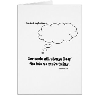 Our souls will keep the love we make stationery note card