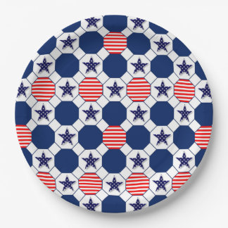 Our Stars Memorial Day Party Paper Plates