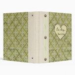 """""""Our Story..."""" Vintage Green Keepsake Book 3 Ring Binders"""