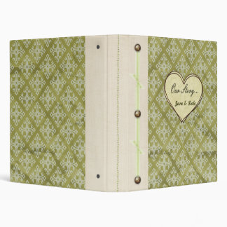 """Our Story..."" Vintage Green Keepsake Book Binder"