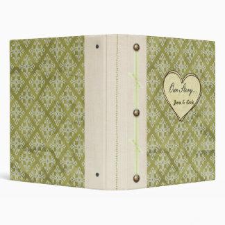 """Our Story..."" Vintage Green Keepsake Book Binder"