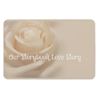 """Our Storybook Love Story"" 4x6 Photo Magnet"