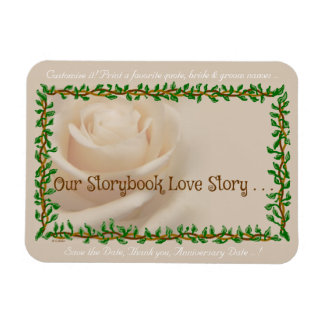 """Our Storybook Love Story"" Customized Photo Magnet"