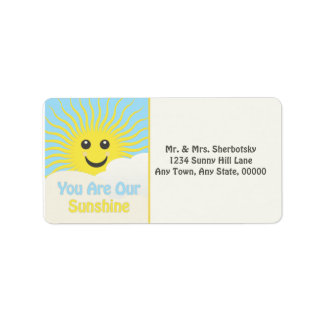 Our Sunshine Personalized Address Label