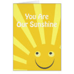 Our Sunshine Party Invite Greeting Card