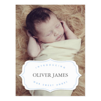 Our Sweet Angel Baby | Birth Announcement Postcard
