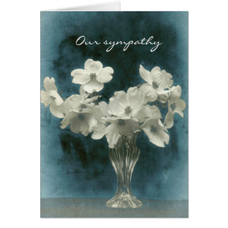 Our Sympathy: Dogwood Blossoms Large and Small Card