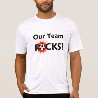 Our Team Rocks Soccer Player Name/Number T-Shirt