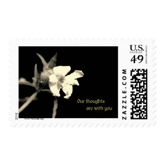Our thoughts are with you postage stamp