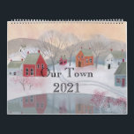 """Our Town 2021 Folk Art Calendar<br><div class=""""desc"""">With warmth, charm, and a rich, colorful folk tradition, these twelve scenes of country and village life will take you through 2021 and then provide folk art to decorate your home with, as all the images are suitable for framing! See some of the same characters from painting to painting? The...</div>"""