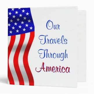 Our Travels Through America Binder