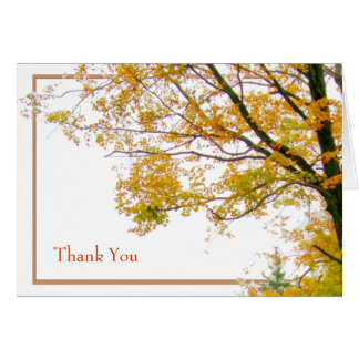 Our Tree Fall Template Thank You Card