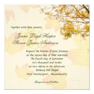 Our Tree, Fall Wedding Square Invitation