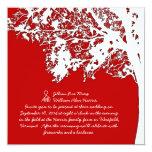 Our Tree, Fun Wedding Invitation, Barn Red