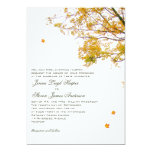 Our Tree in Fall Parents Inviting Wedding Card