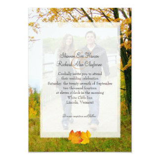Our Tree in Fall Photo Wedding Invitation