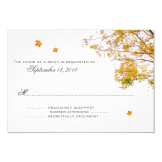 Our Tree in Fall Wedding Invitation Reply Cards