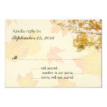 Our Tree in Fall Wedding Reply Card Invites