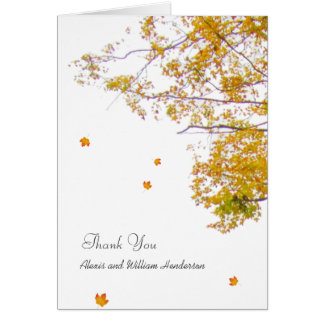 Our Tree Thank You Card With Custom Message