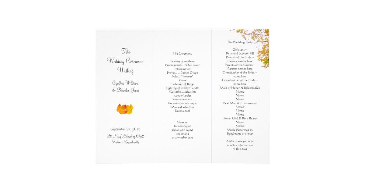25 wedding program brochure templates