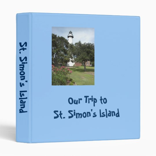 Our Trip to St. Simon's Island Memory Book Binder