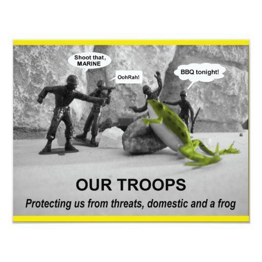 Our Troops Card