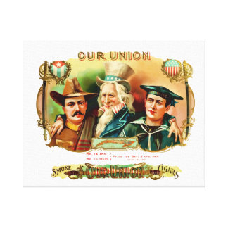 Our Union Vintage Cigar Box Label Gallery Wrapped Canvas