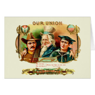 Our Union Vintage Cigar Box Label Card
