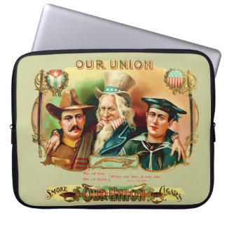 Our Union Vintage Cigar Box Label Laptop Sleeve