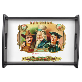 Our Union Vintage Cigar Box Label Serving Tray