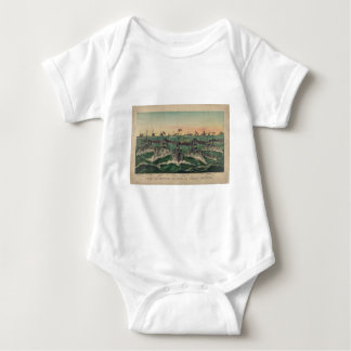 Our Victorious Fleets in Cuban Waters Currier Ives Baby Bodysuit